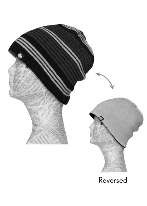 Шапка 686 Rugby Reversible Beanie Black фото