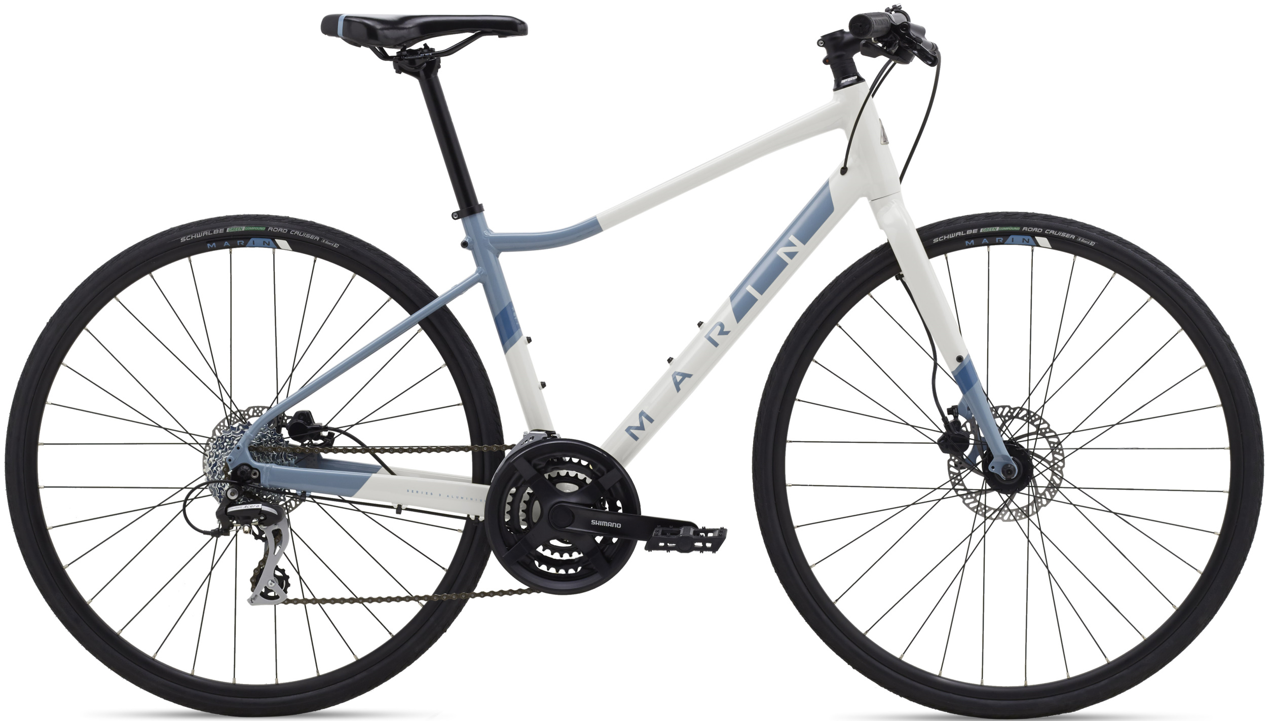 "Велосипед 28"" Marin TERRA LINDA 2 рама - S 2021 Gloss White/Ash Blue/Deep Blue фото"