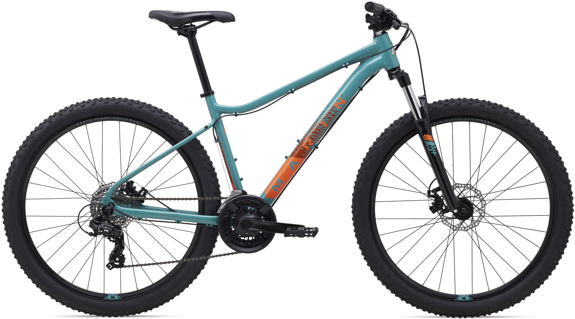 "Велосипед 27,5"" Marin WILDCAT TRAIL 1 WFG рама - L 2021 Gloss Dark Teal/Coral/Dark Coral фото"
